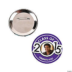 Graduation Custom Photo Buttons