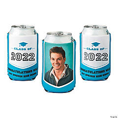Graduation Custom Photo Can Coolers