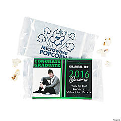 Graduation Custom Photo Mini Popcorn Bags