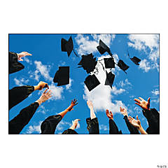 Graduation Hats Backdrop Banner