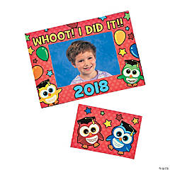 Graduation Owl Picture Frame Magnets