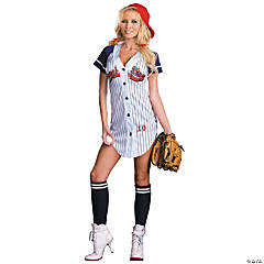 Grand Slam Adult Women's Baseball Costume