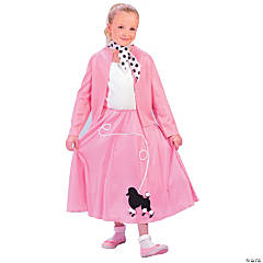 Grease Poodle Skirt & Sweater Girl's Costume