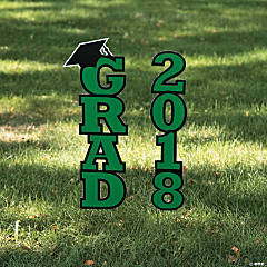 Green 2018 Grad Yard Sign
