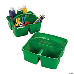 Green 3-Compartment Storage Caddies