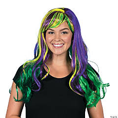 Green & Purple Fancy Wig