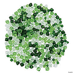 Green & White Crystal Bead Assortment