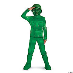 Green Army Man Deluxe Boy's Costume