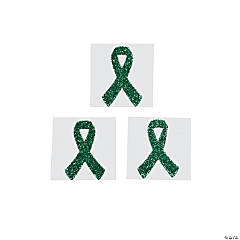 Green Awareness Ribbon Tattoo Stickers