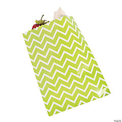 Green Chevron Cake Bags