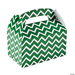 Green Chevron Favor Boxes