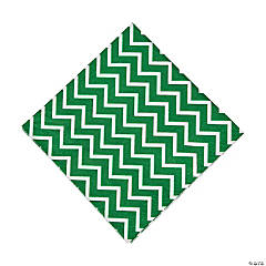 Green Chevron Luncheon Napkins
