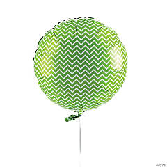 Green Chevron Mylar Balloon