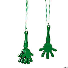 Green Clapper Bead Necklaces