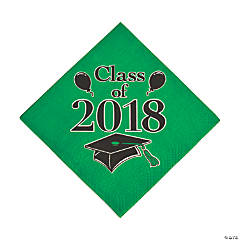 Green Class of 2018 Grad Party Luncheon Napkins