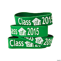 Green Class of 2015 Big Band Bracelets