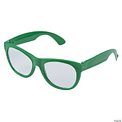 Green Clear Lens Glasses