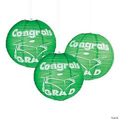 Green Congrats Grad Hanging Paper Lanterns