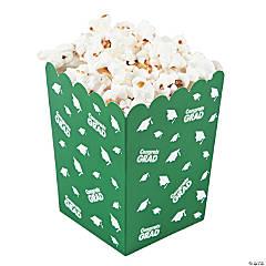 Green Congrats Grad Popcorn Boxes