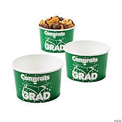 Green Congrats Grad Snack Bowls