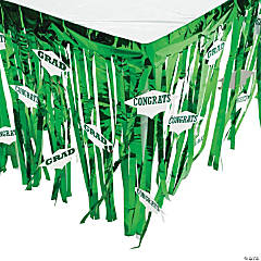 Green Congrats Grad Table Skirt