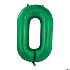 Green Deco Link Mylar Balloon