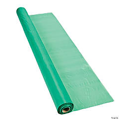 Green Extra Long Plastic Tablecloth Roll