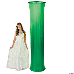 Green Fabric Column Slip