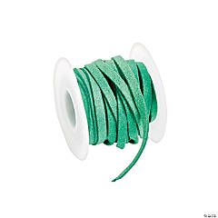 Green Faux Leather Cording