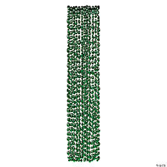 Green Football Bead Necklaces