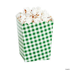 Green Gingham Popcorn Boxes