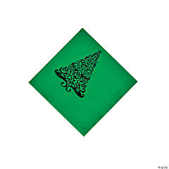 Green Glitz Beverage Napkins