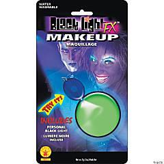 Green Glow Blacklight Makeup