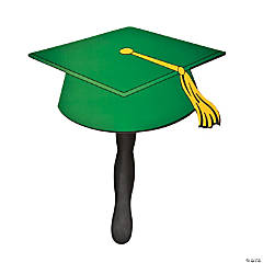 Green Graduation Cap Fans