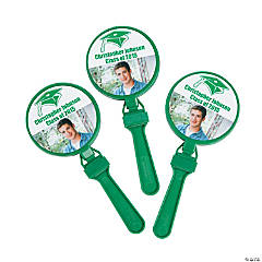 Green Graduation Custom Photo Clappers