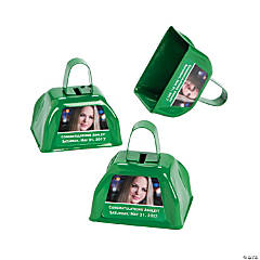 Green Graduation Custom Photo Cowbells
