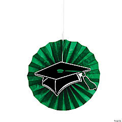 Green Graduation Hanging Fans with Icons
