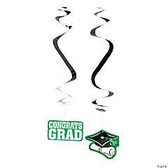 Green Graduation Hanging Swirls Mega Pack