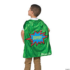 Green Graduation Superhero Cape