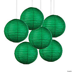 Green Hanging Paper Lanterns