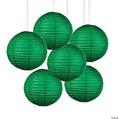 Green Hanging Paper Lanterns