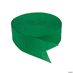 Green Jumbo Paper Streamers