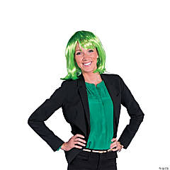Green Neon Pageboy Wig