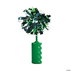 Green Noisemaker Rattles with Pom