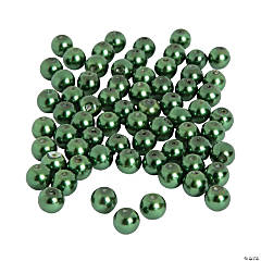 Green Pearl Beads - 8mm