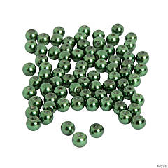 Green Pearl Beads - 6mm