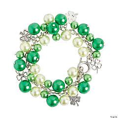 Green Pearl Charm Bracelet Craft Kit
