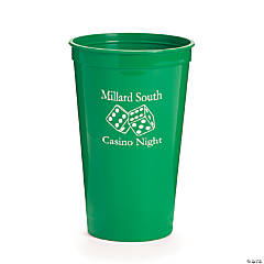 Green Personalized Casino Tumblers