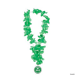 Green Personalized Graduation Leis