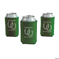 Green Personalized Horseshoe Can Coolers